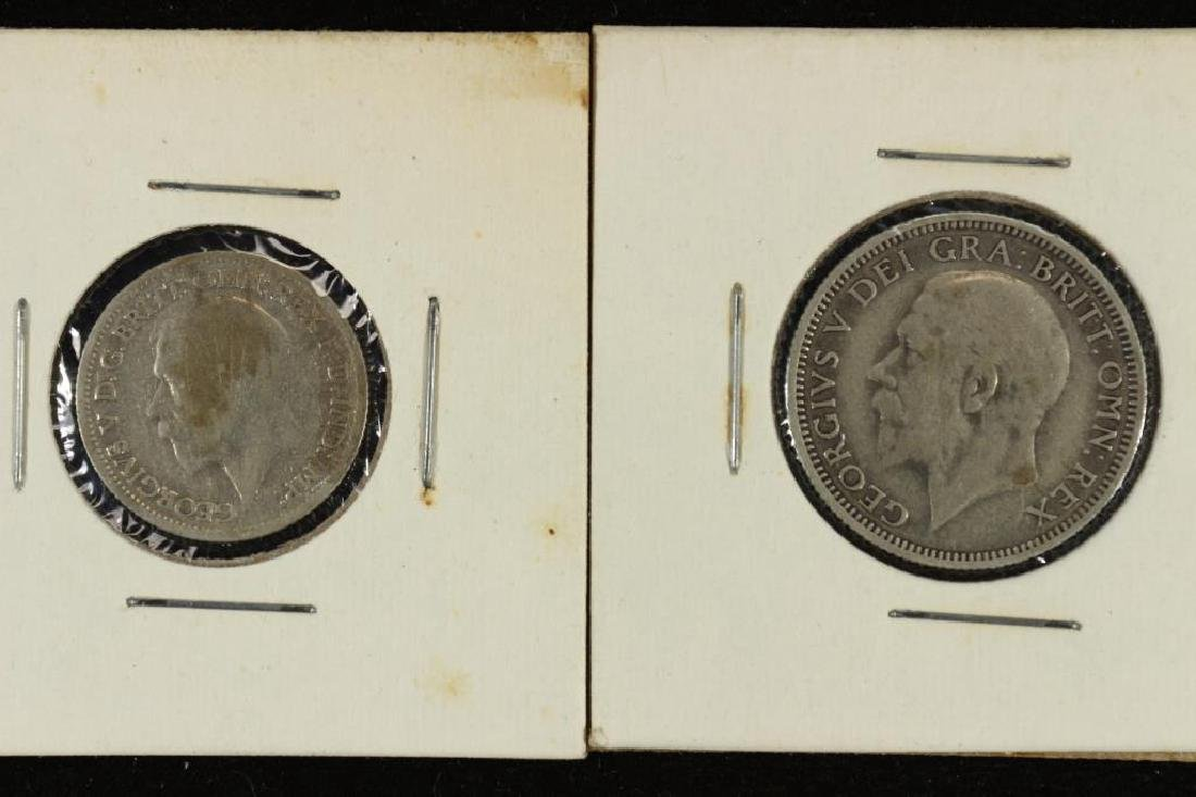 GREAT BRITAIN 1930 SILVER 6 PENCE & SHILLING - 2