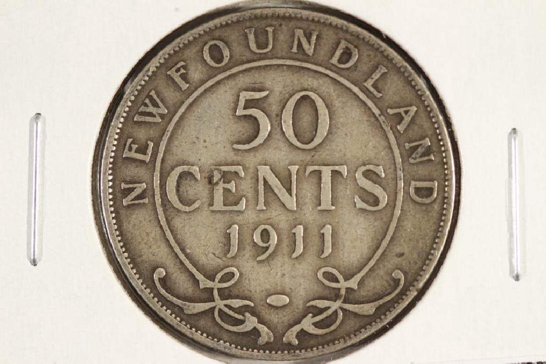 1911 NEWFOUNDLAND SILVER 50 CENTS
