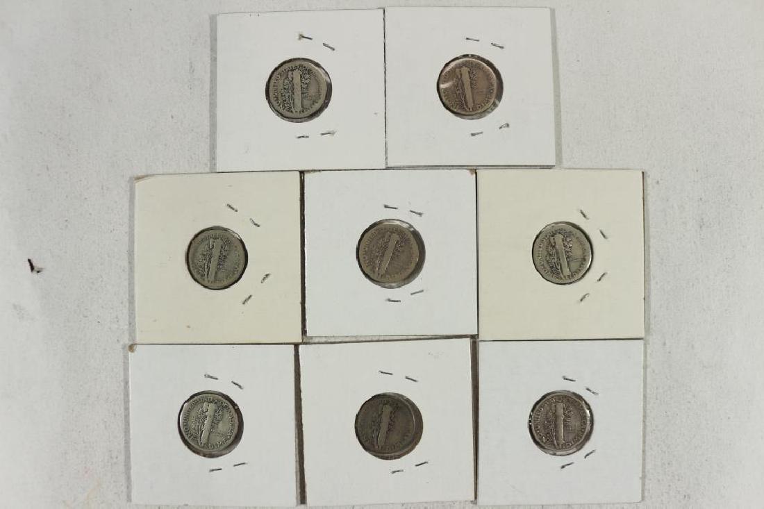 1916,16-S,18-D,19,20-D,23,23-S & 25 MERCURY DIMES - 2