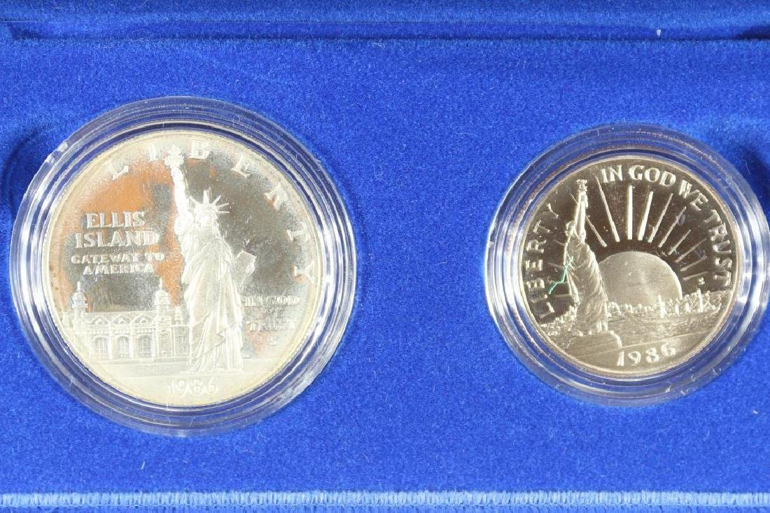 1986 STATUE OF LIBERTY 2 COIN PROOF SET