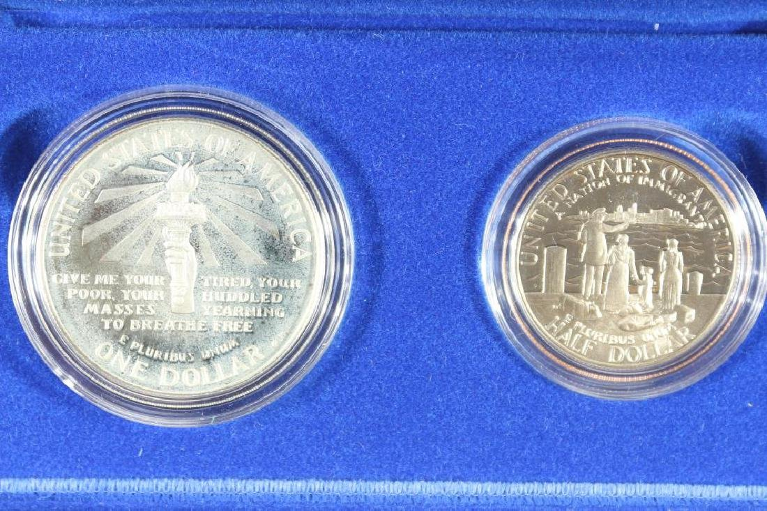 1986 STATUE OF LIBERTY 2 COIN PROOF SET - 2