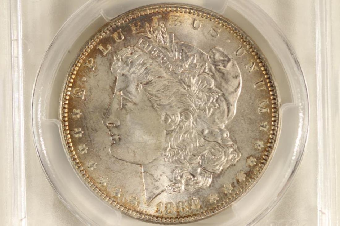 1888 MORGAN SILVER DOLLAR PCGS MS63
