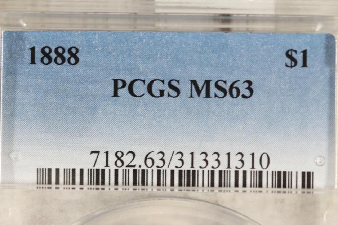 1888 MORGAN SILVER DOLLAR PCGS MS63 - 3