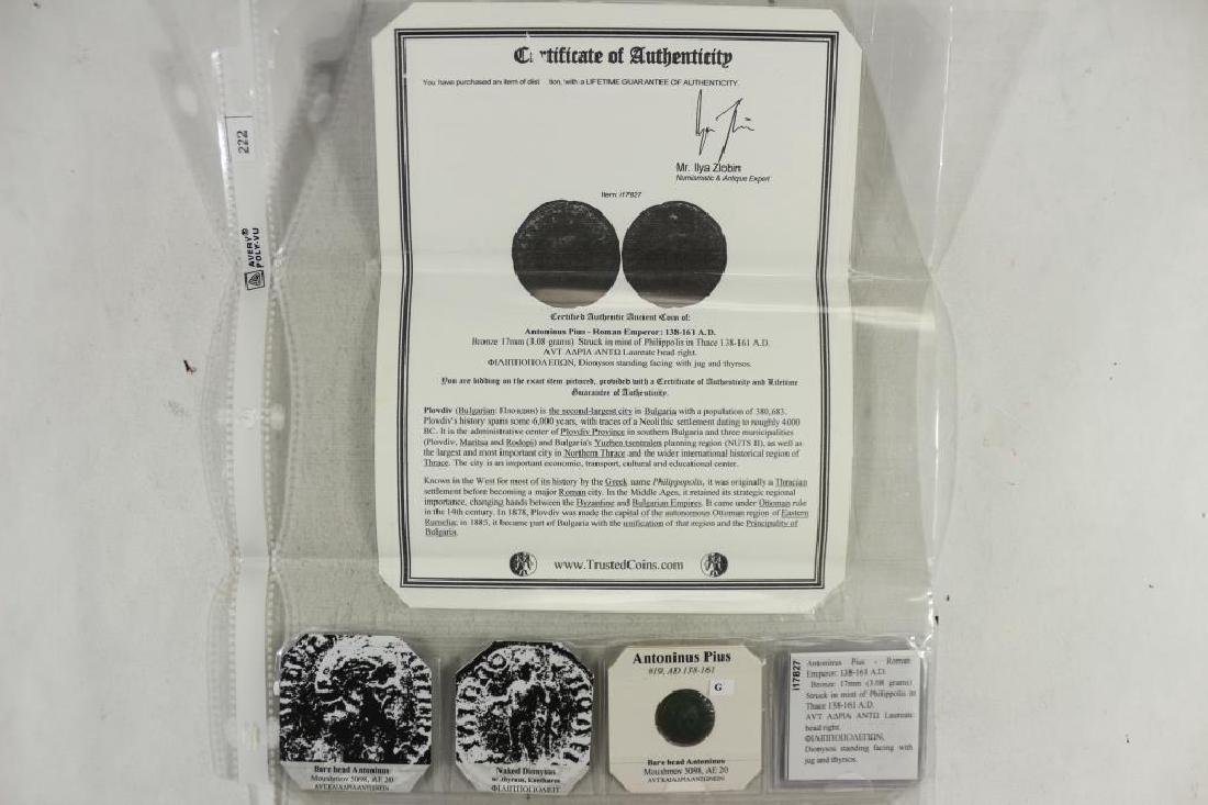 138-161 A.D. ANTONINUS PIUS ANCIENT COIN