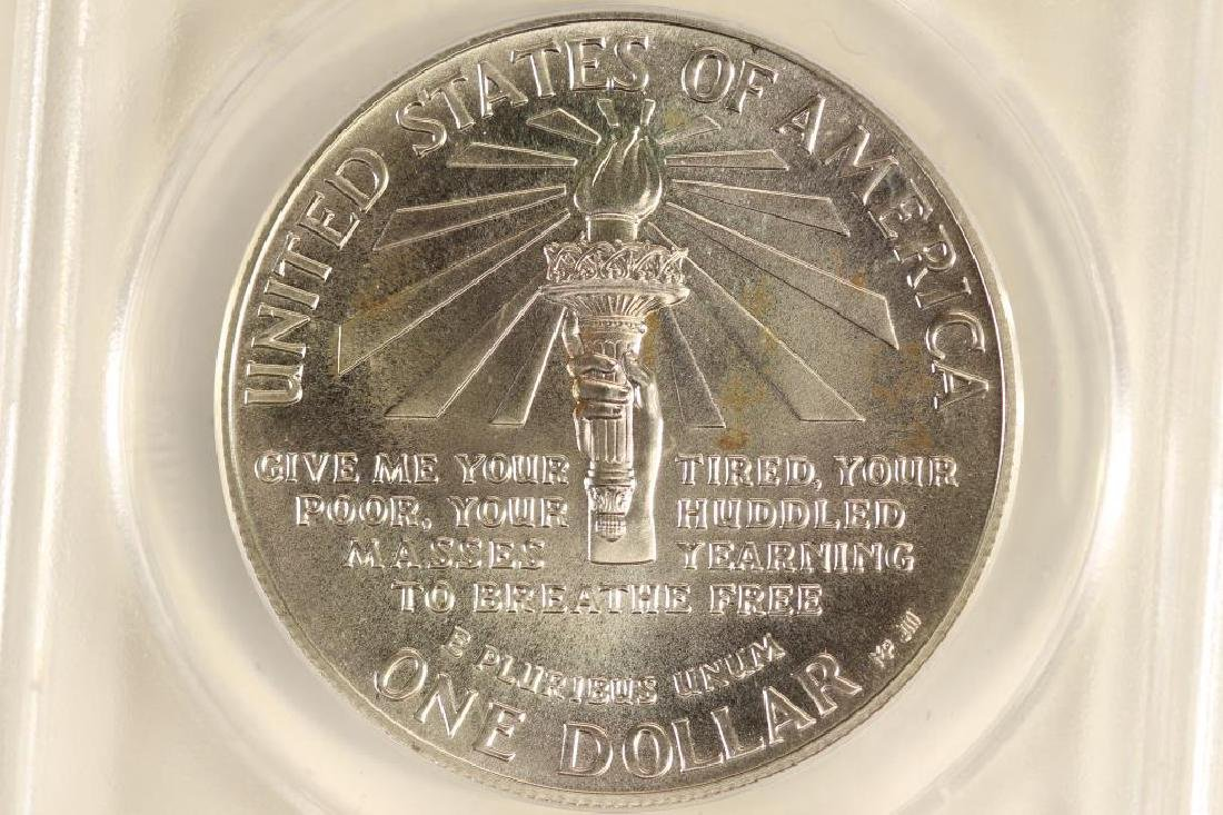 1986-P STATUE OF LIBERTY SILVER DOLLAR ANACS MS68 - 2