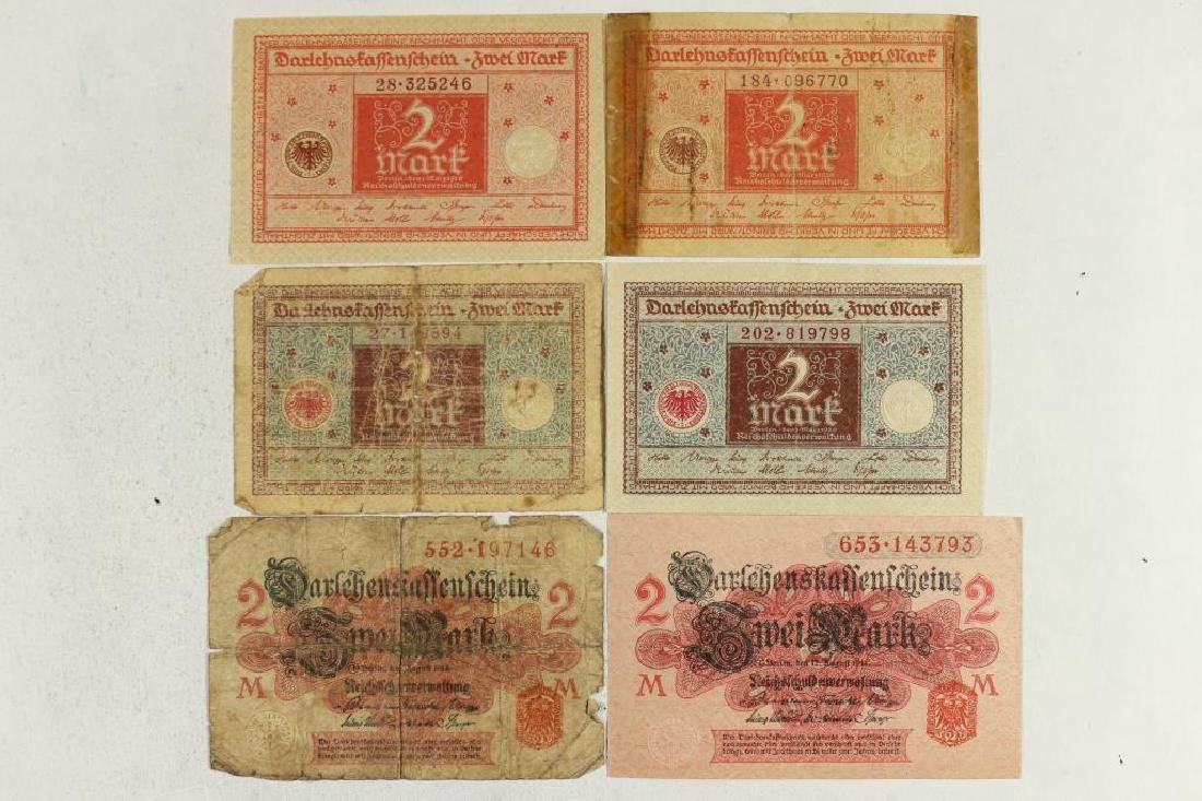 GERMAN 2-1914 & 4-1920 2 MARK BILLS