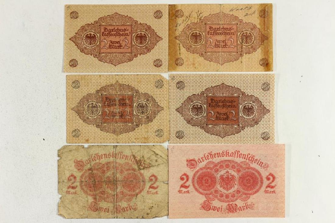 GERMAN 2-1914 & 4-1920 2 MARK BILLS - 2