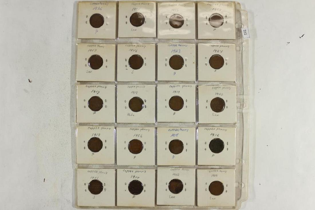 57 ASSORTED 1910-1958 LINCOLN CENTS AS SHOWN - 3