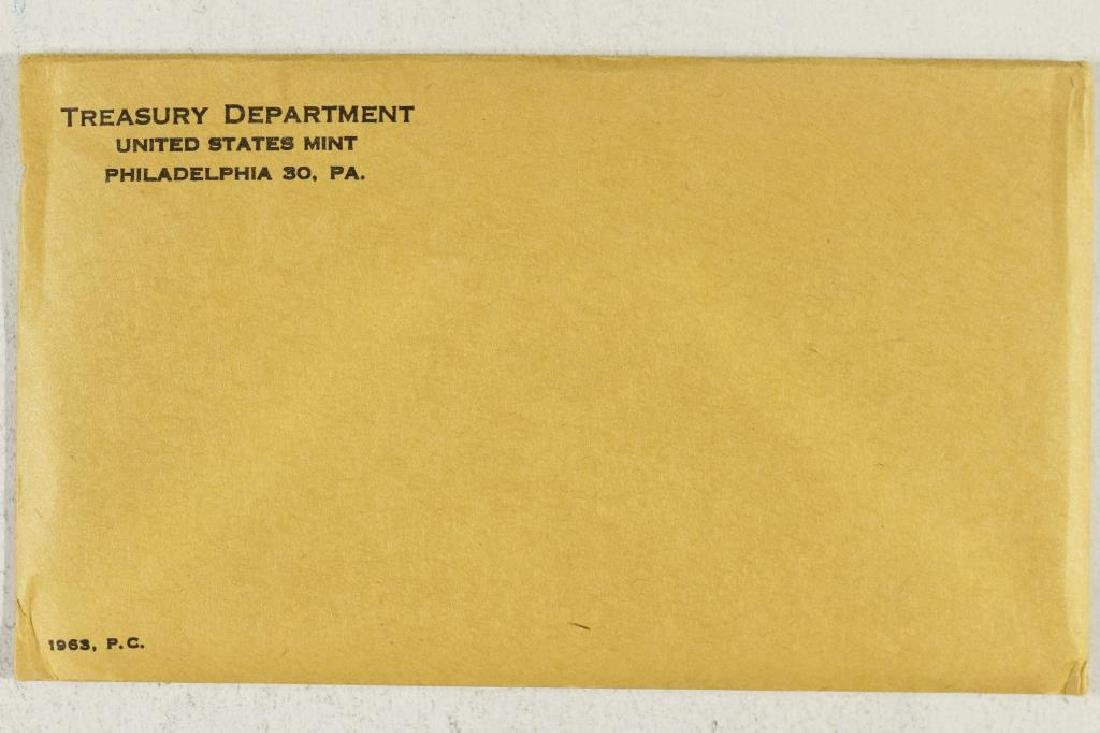 1963 US SILVER PROOF SET (WITH ENVELOPE) SEALED