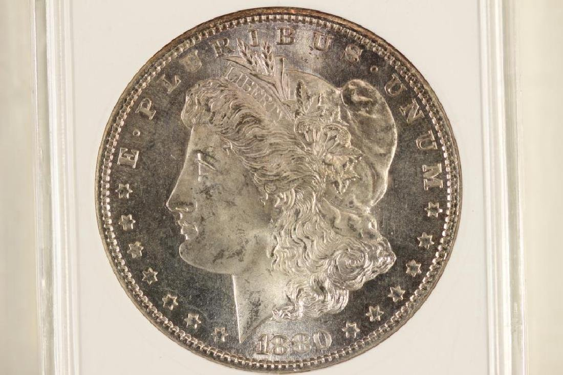 1880-S MORGAN SILVER DOLLAR ANACS MS64