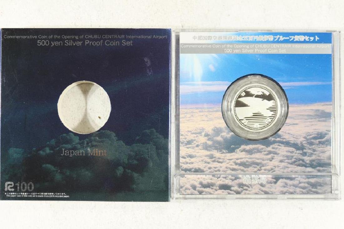 JAPANESE 500 YEN SILVER PROOF COIN COMMEMORATIVE