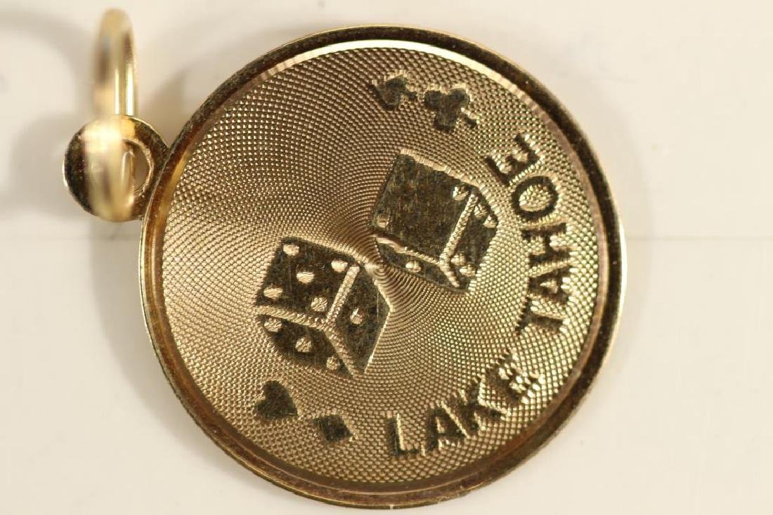 .7 GRAM 14KT GOLD LAKE TAHOE CHARM