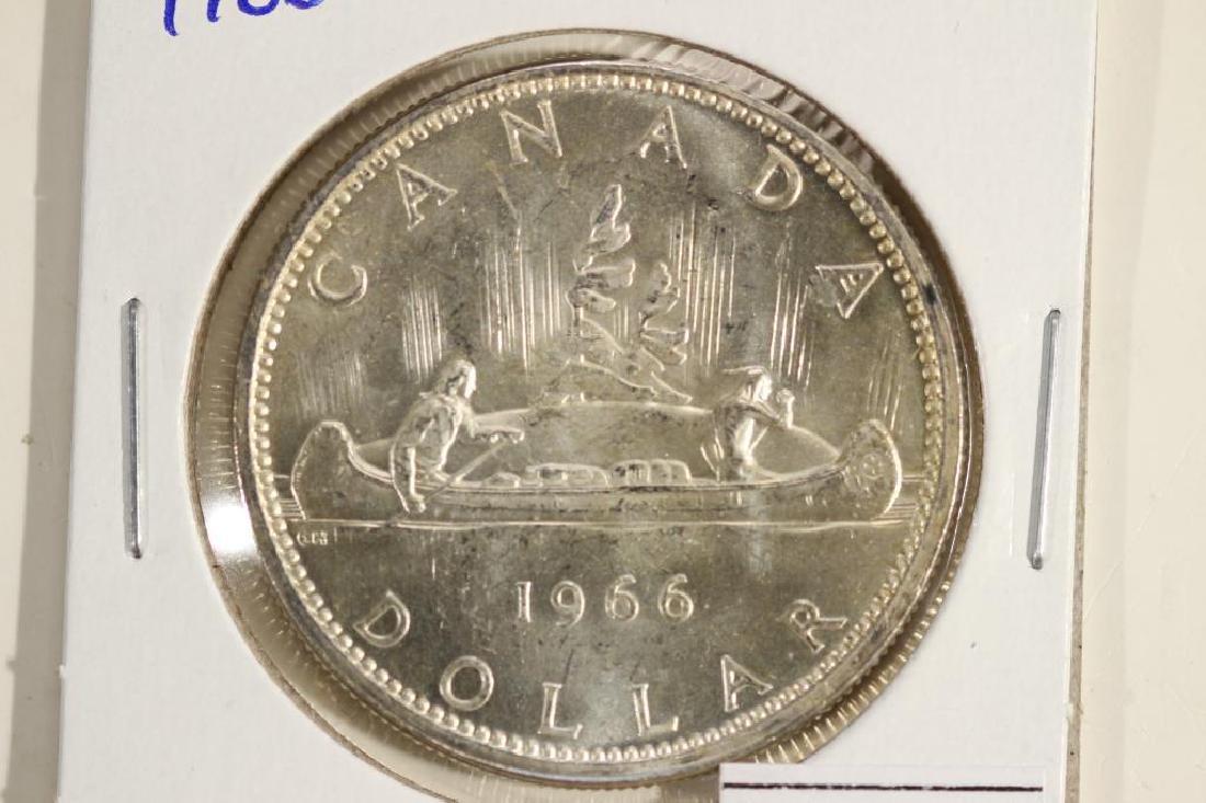 1966 CANADA SILVER DOLLAR UNC