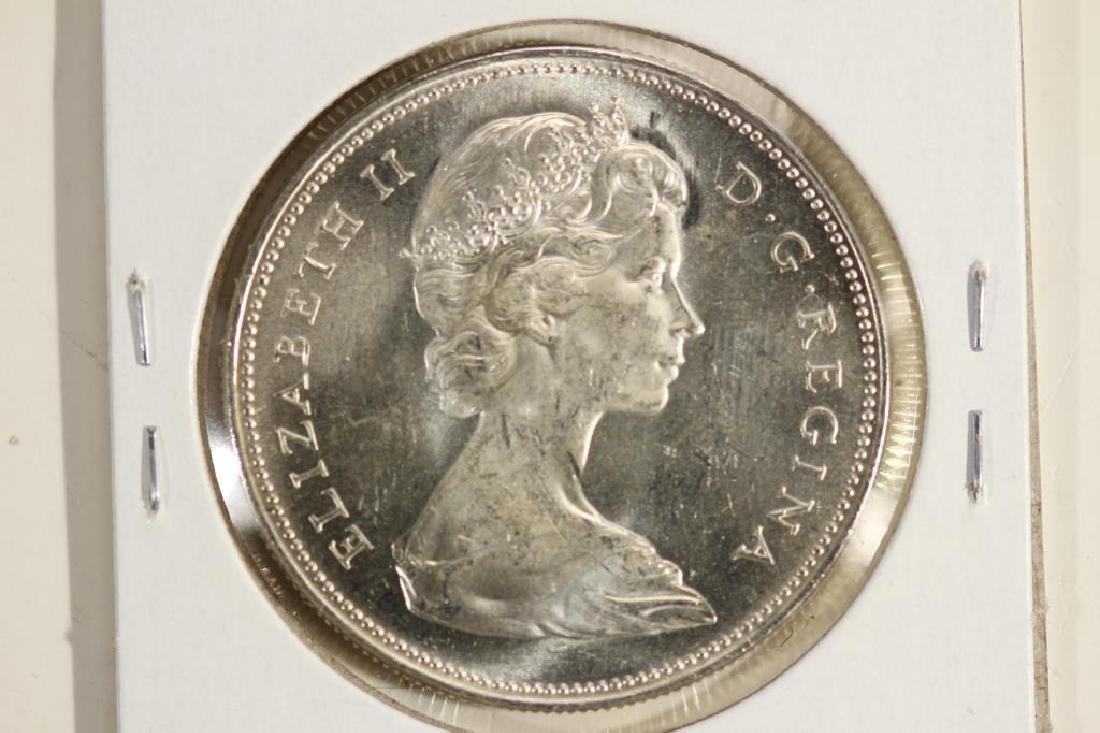 1966 CANADA SILVER DOLLAR UNC - 2