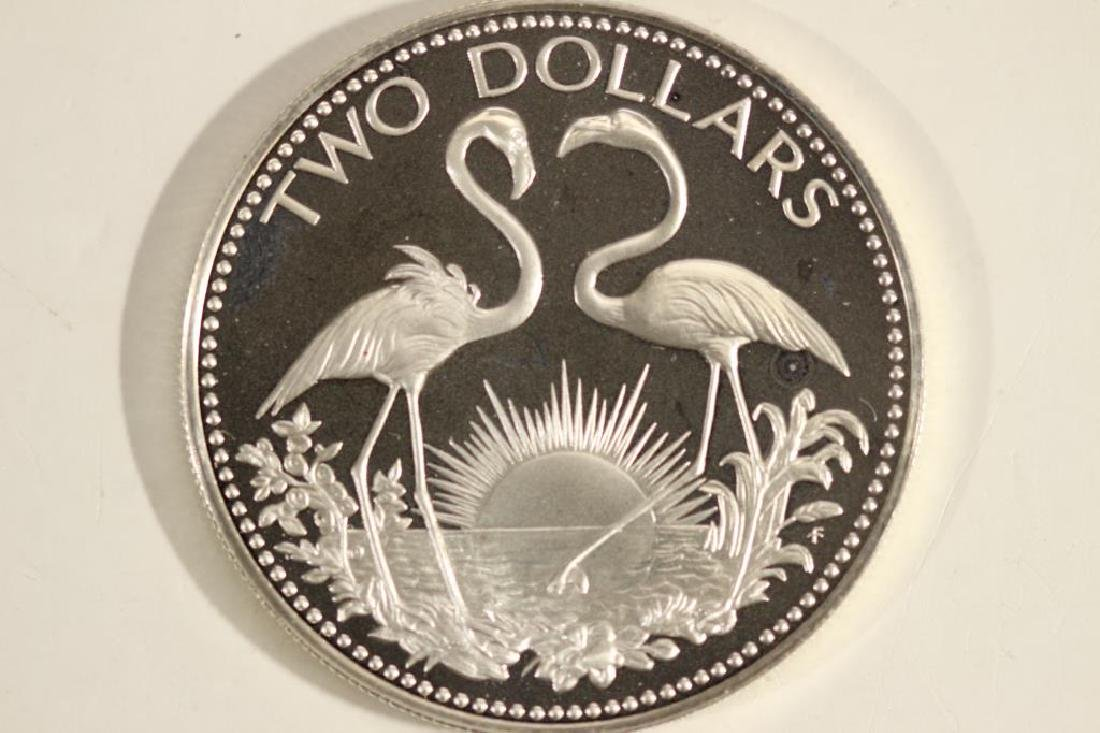 1975 BAHAMAS SILVER PROOF $2 .8862 OZ. ASW