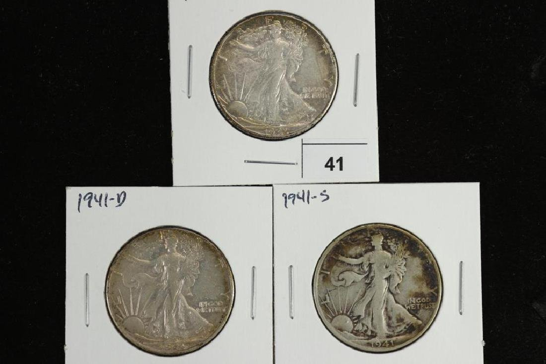 1941-P/D/S WALKING LIBERTY HALF DOLLARS