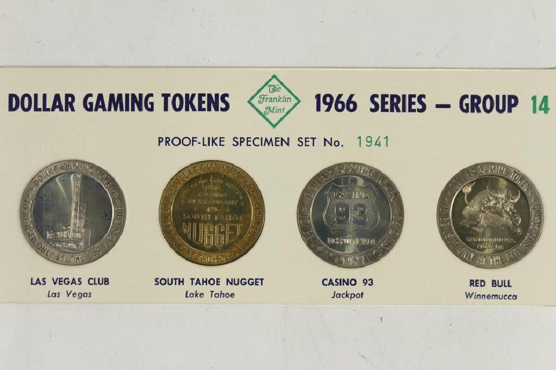 4-$1 GAMING TOKENS 1966 SERIES GROUP 14 (PF LIKE)