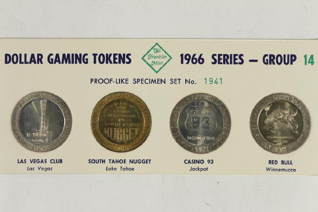 4-$1 GAMING TOKENS 1966 SERIES GROUP 14 (PF LIKE)