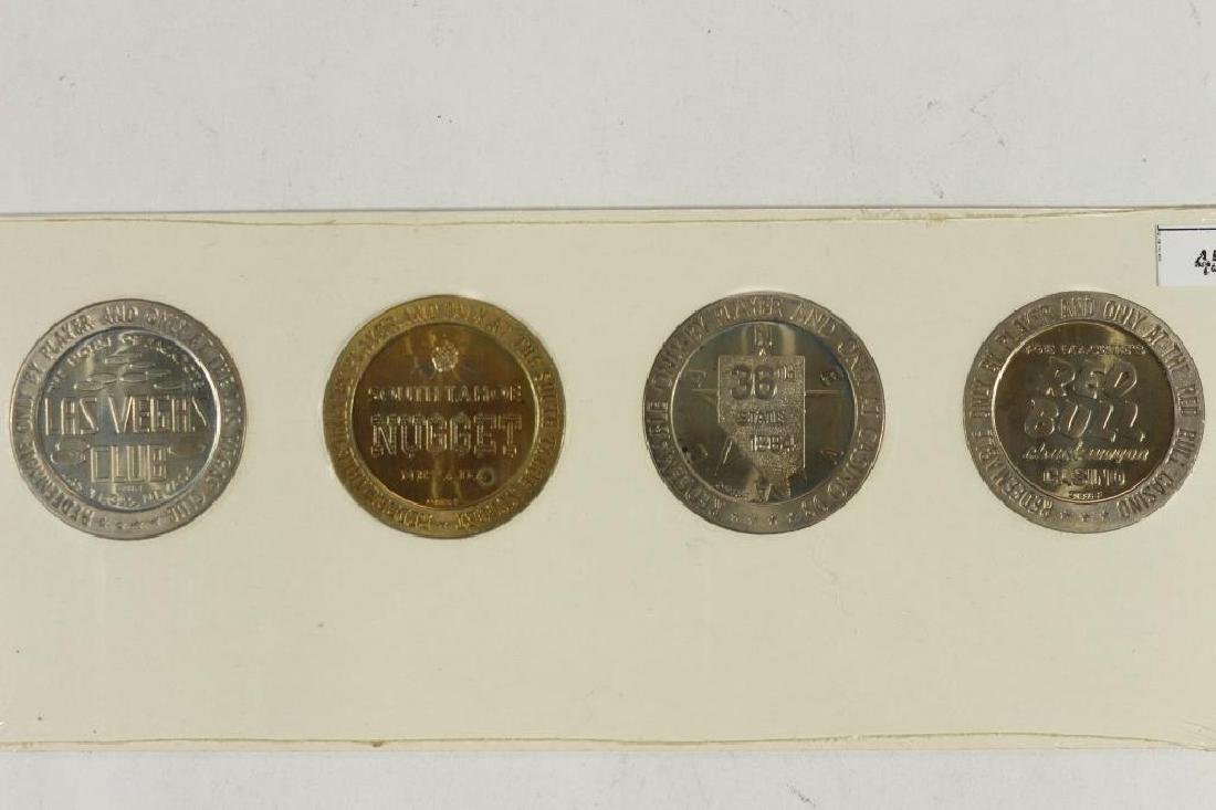 4-$1 GAMING TOKENS 1966 SERIES GROUP 14 (PF LIKE) - 2