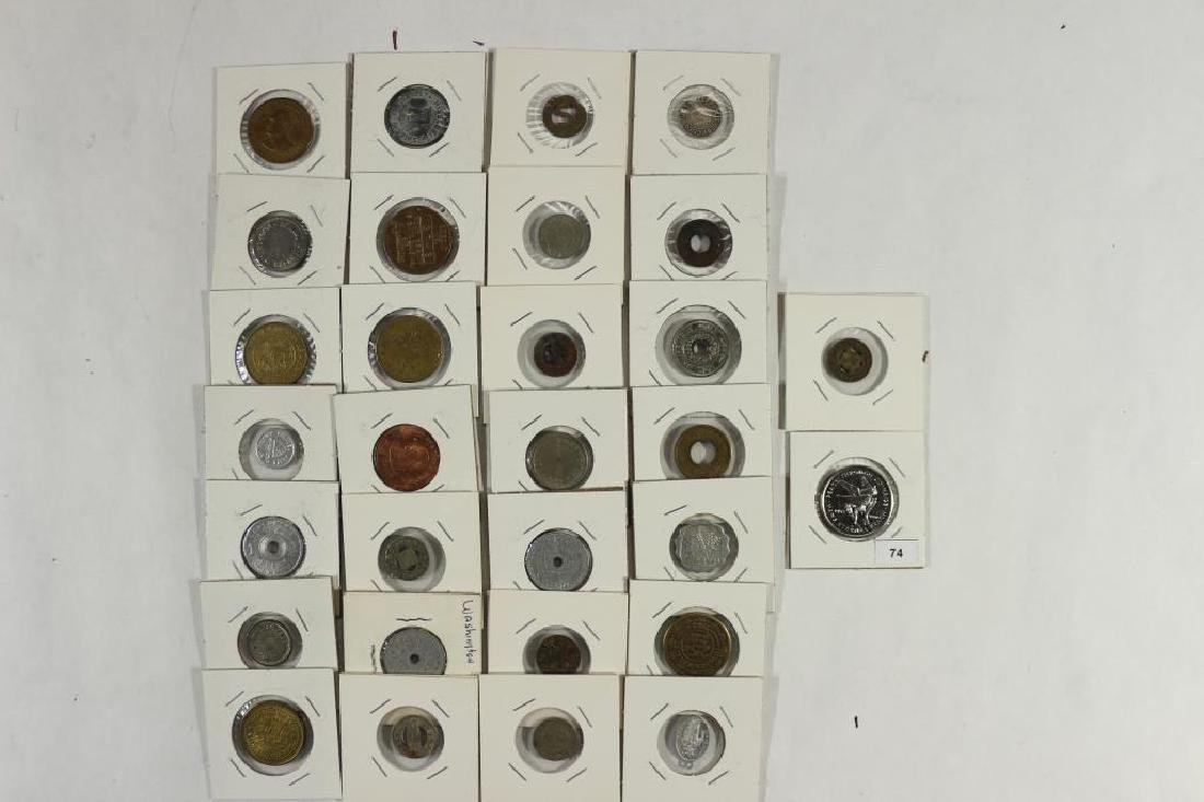 30 ASSORTED VINTAGE TOKENS