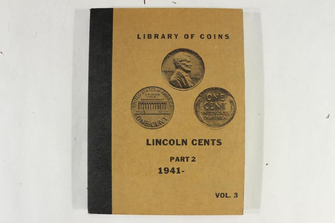 VINTAGE LIBRARY OF COINS 1941-UP LINCOLN CENT SET