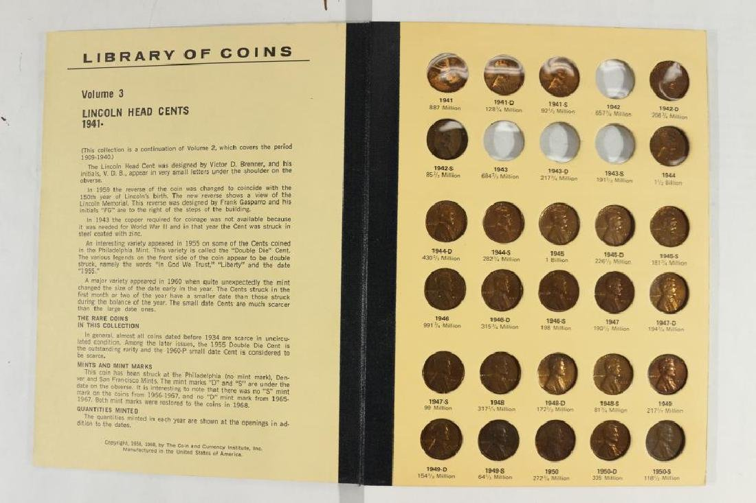 VINTAGE LIBRARY OF COINS 1941-UP LINCOLN CENT SET - 2
