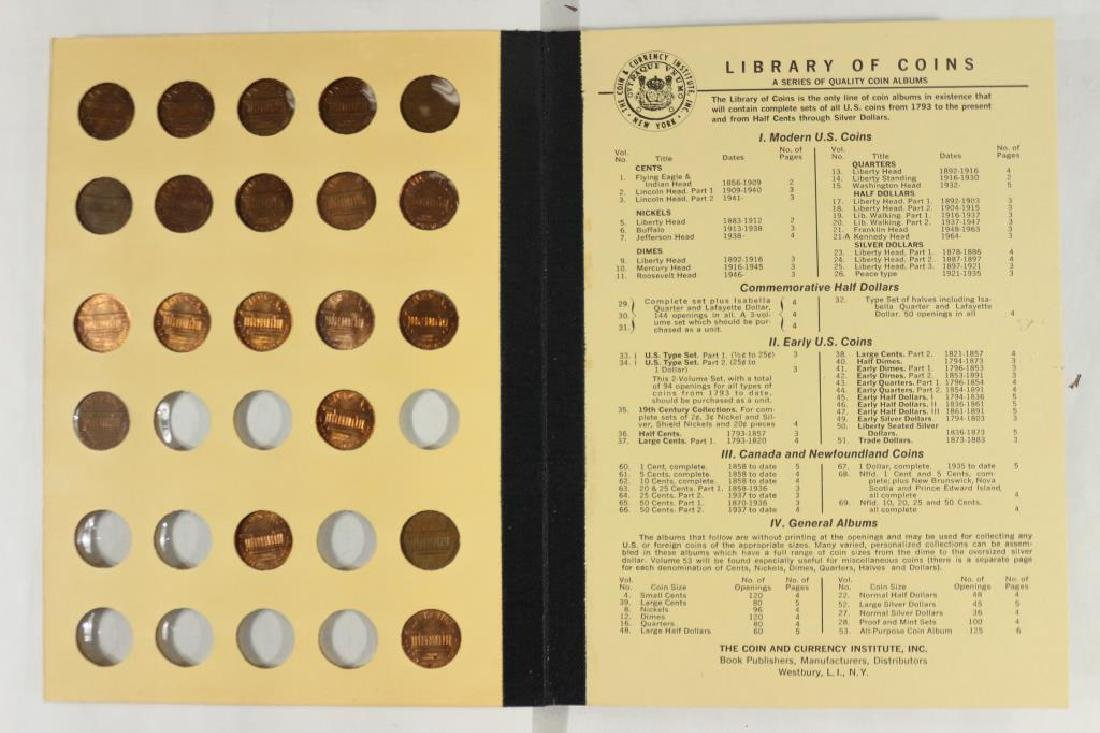 VINTAGE LIBRARY OF COINS 1941-UP LINCOLN CENT SET - 5
