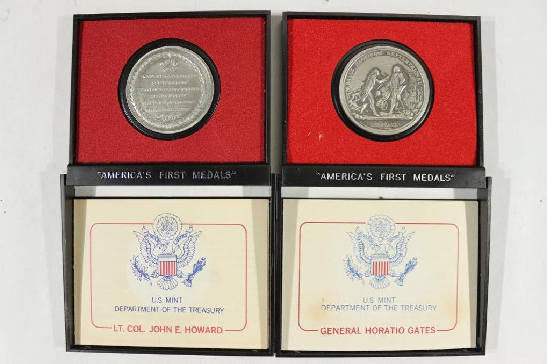 2 US MINT AMERICAS 1ST MEDALS IN PEWTER