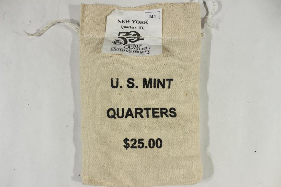 $25 US MINT SEALED BAG OF 2001-D NEW YORK 1/4'S
