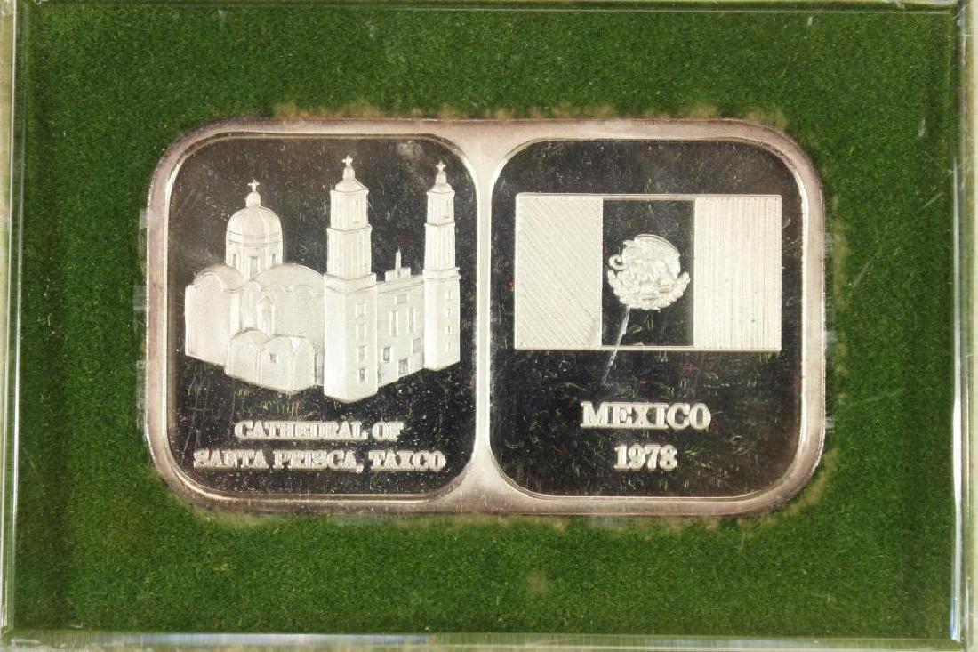 1 TROY OZ .999 FINE SILVER PROOF INGOT 1978 MEXICO