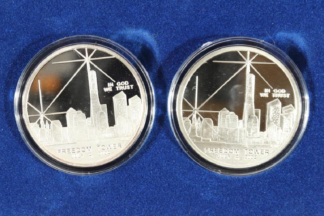 SET OF 2-FREEDOM TOWER 1 OZ. PROOF ROUNDS