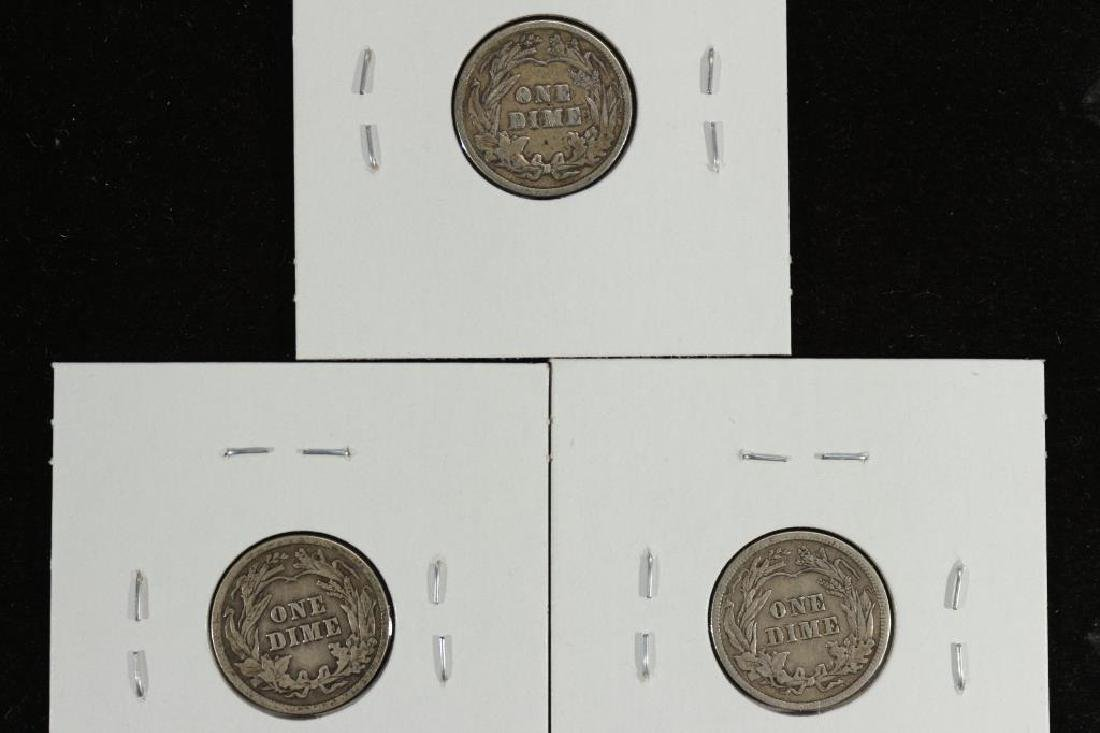 1913,14 & 16 BARBER DIME ALL FINES - 2
