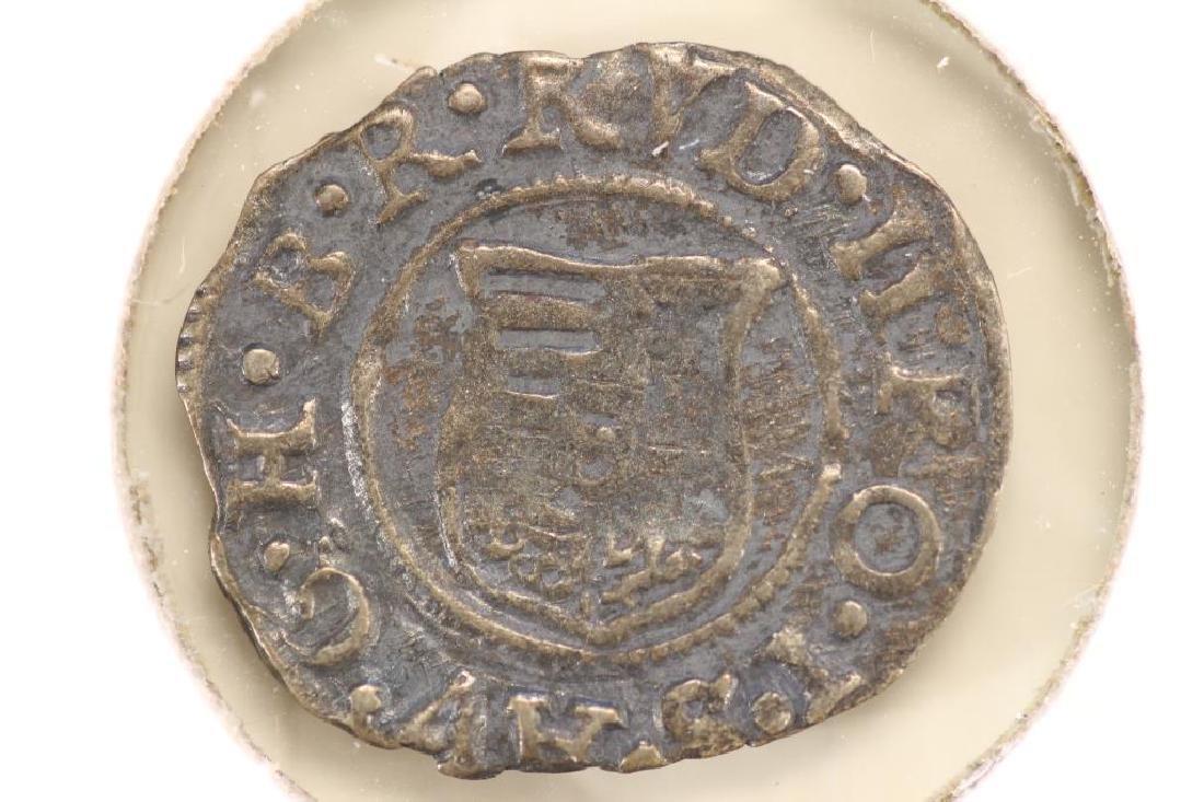 CIRCA 1586 HUNGARY SILVER DENAR FERDINAND I ERA - 2