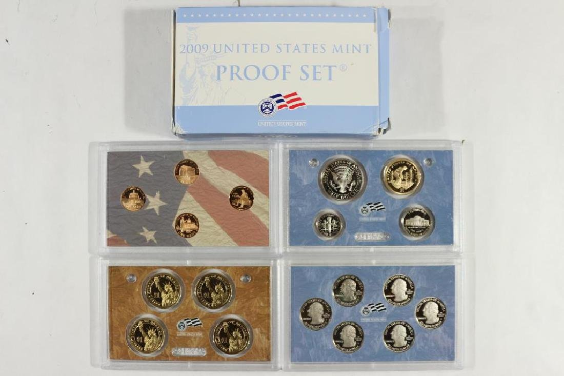2009 US PROOF SET (WITH BOX) 18 PIECES - 2