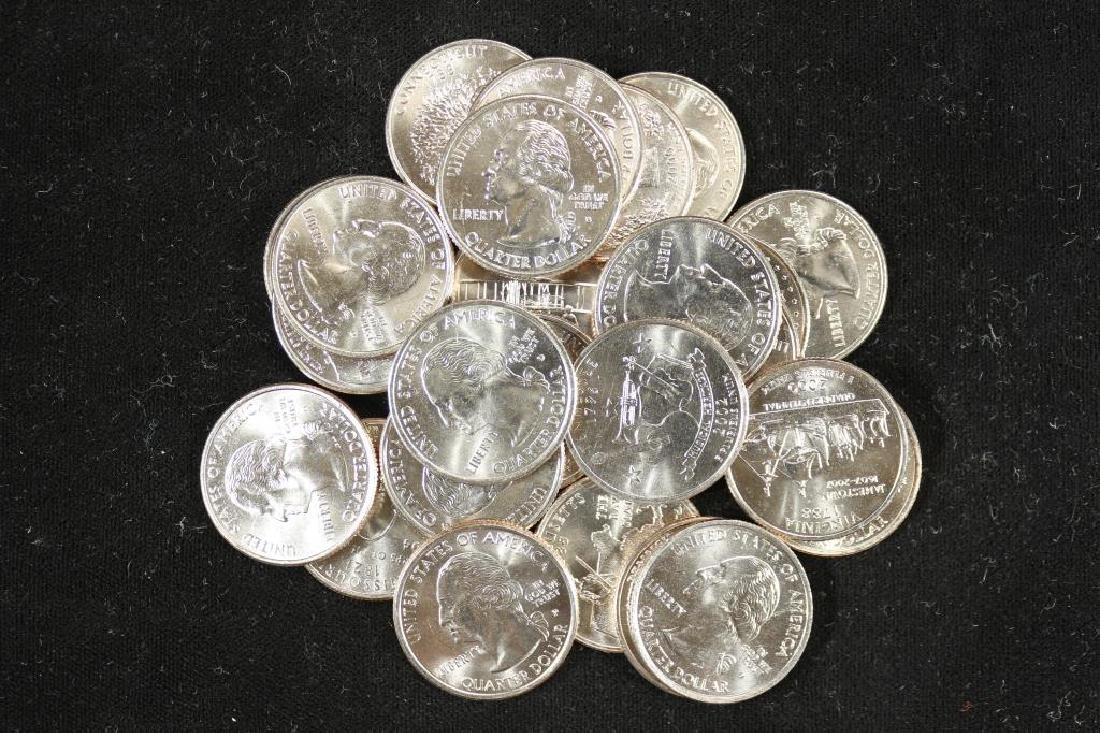 25 COIN STATEHOOD QUARTER SET UNC BY LITTLETON