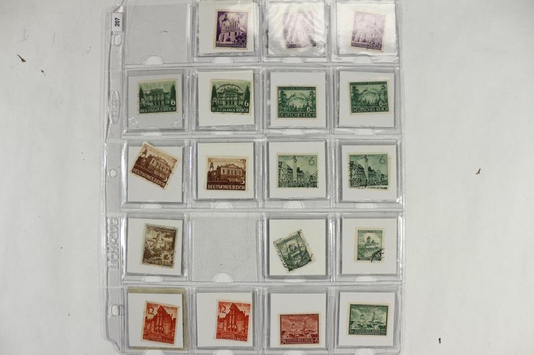 28 WWII GERMAN POSTAGE STAMPS MANY UNUSED