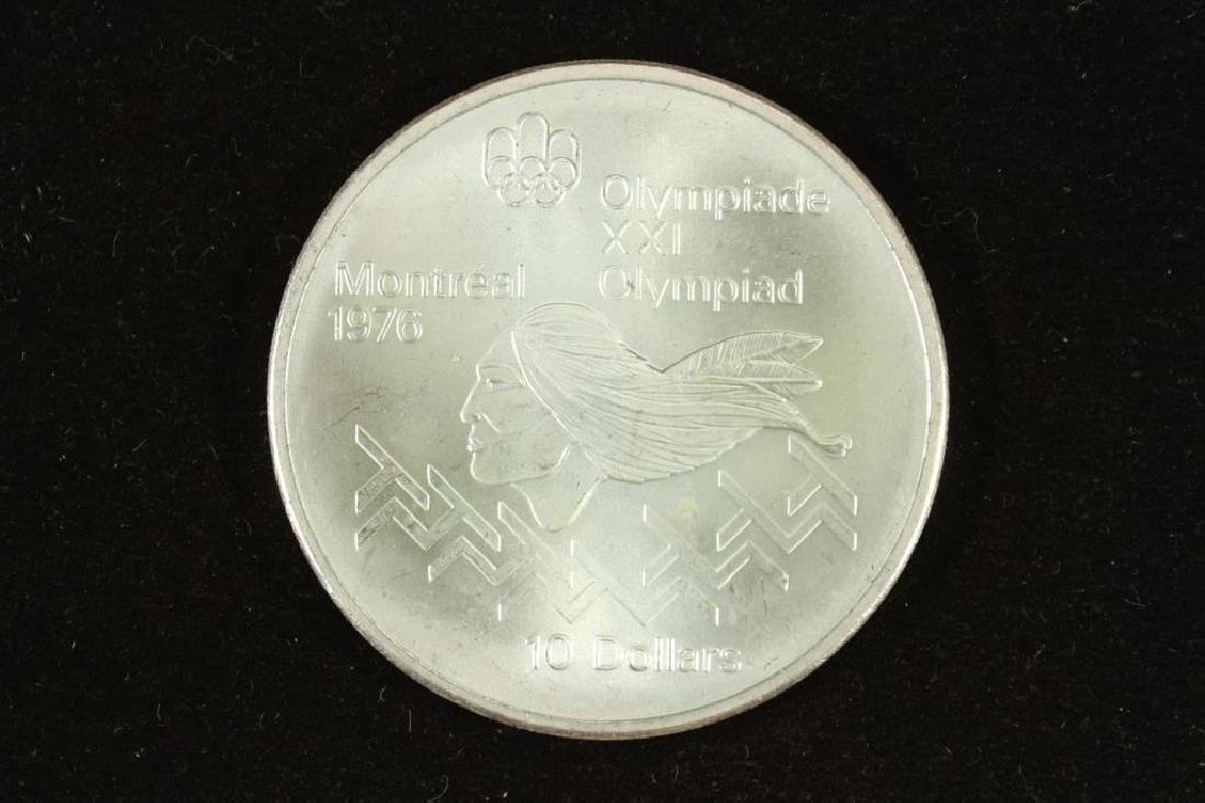 1975 CANADA SILVER $10 MONTREAL 1976 UNC