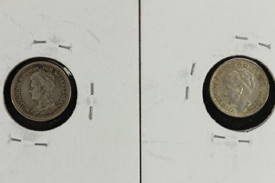 1918 & 1937 NETHERLANDS SILVER 10 CENTS - 2