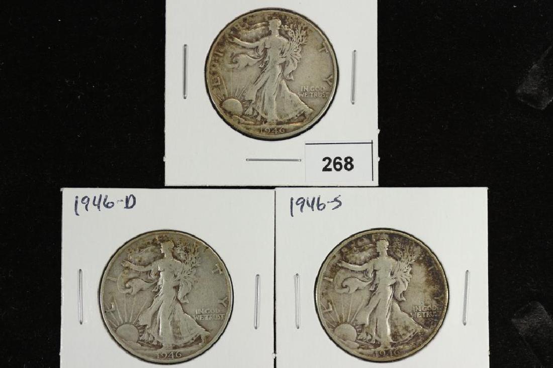 1946-P/D/S WALKING LIBERTY HALF DOLLARS