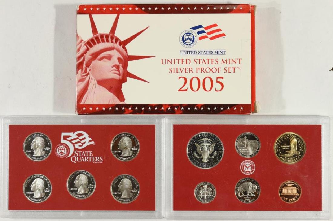 2005 US SILVER PROOF SET (WITH BOX) - 2