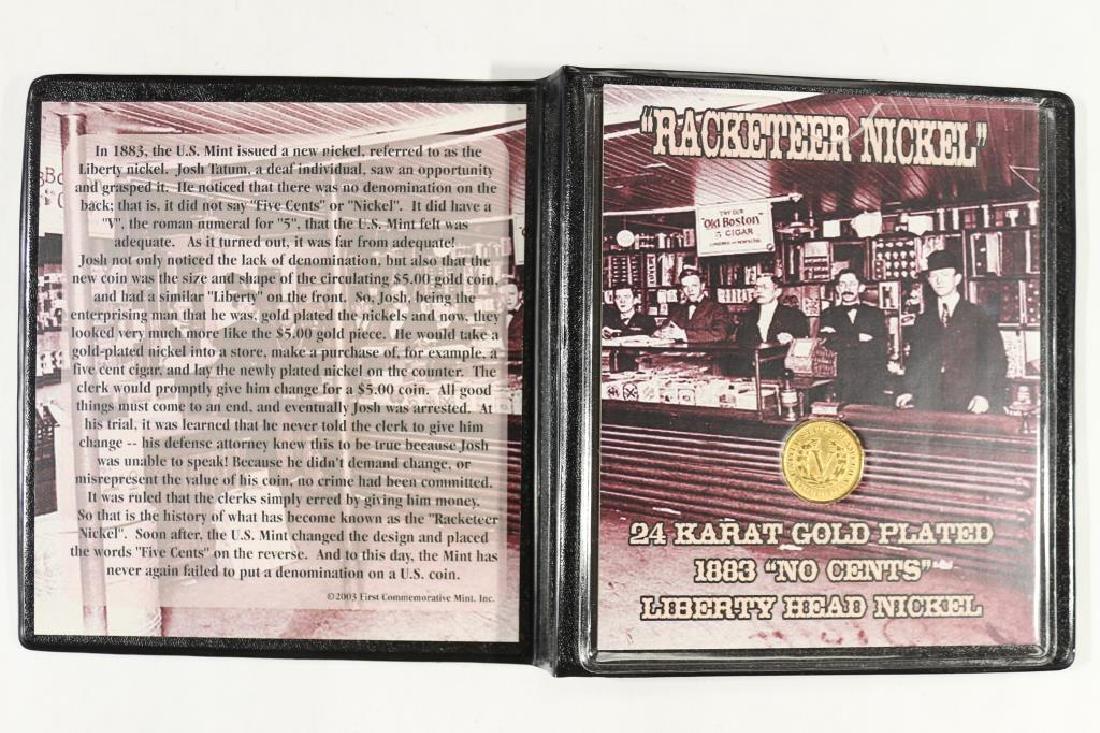 ''RACKATEER NICKEL'' 24KT GOLD PLATED 1883 LIBERTY - 2