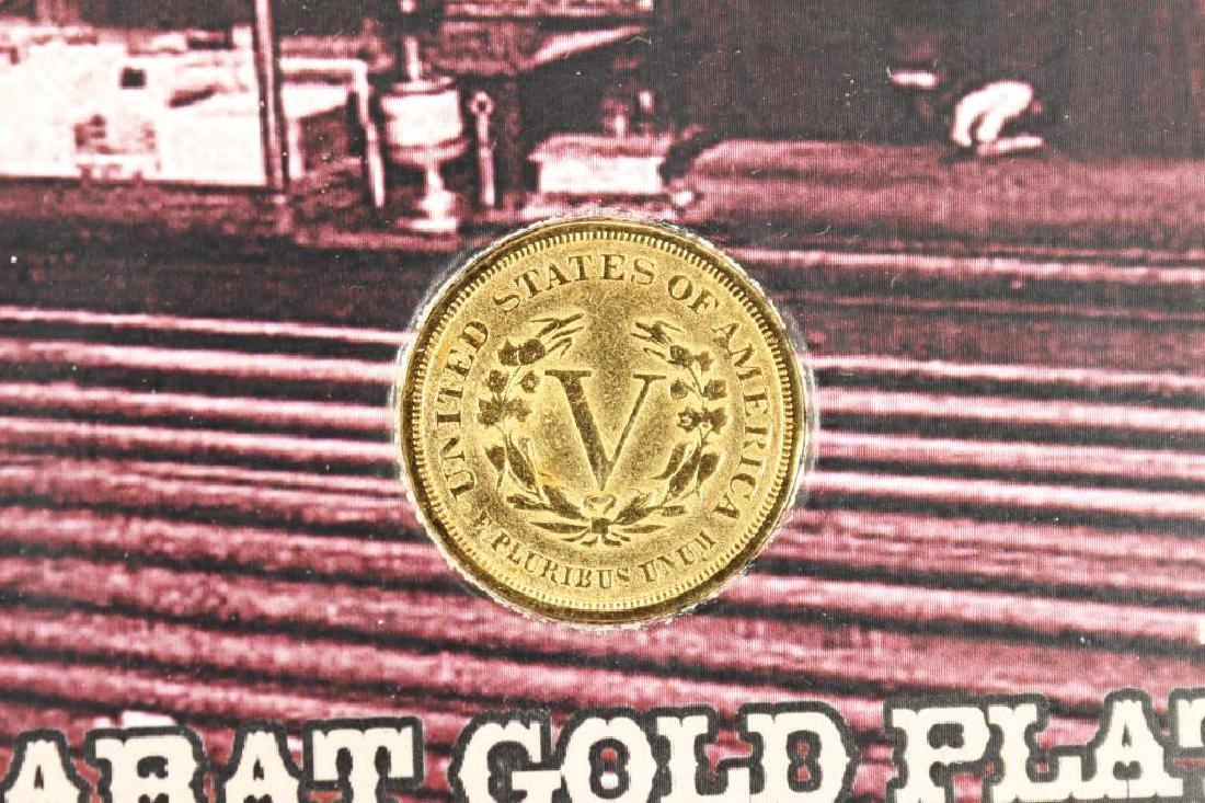 ''RACKATEER NICKEL'' 24KT GOLD PLATED 1883 LIBERTY - 3