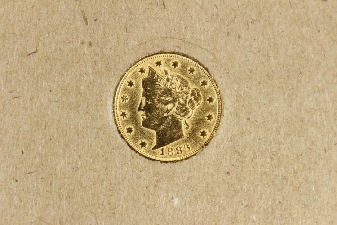 ''RACKATEER NICKEL'' 24KT GOLD PLATED 1883 LIBERTY - 4