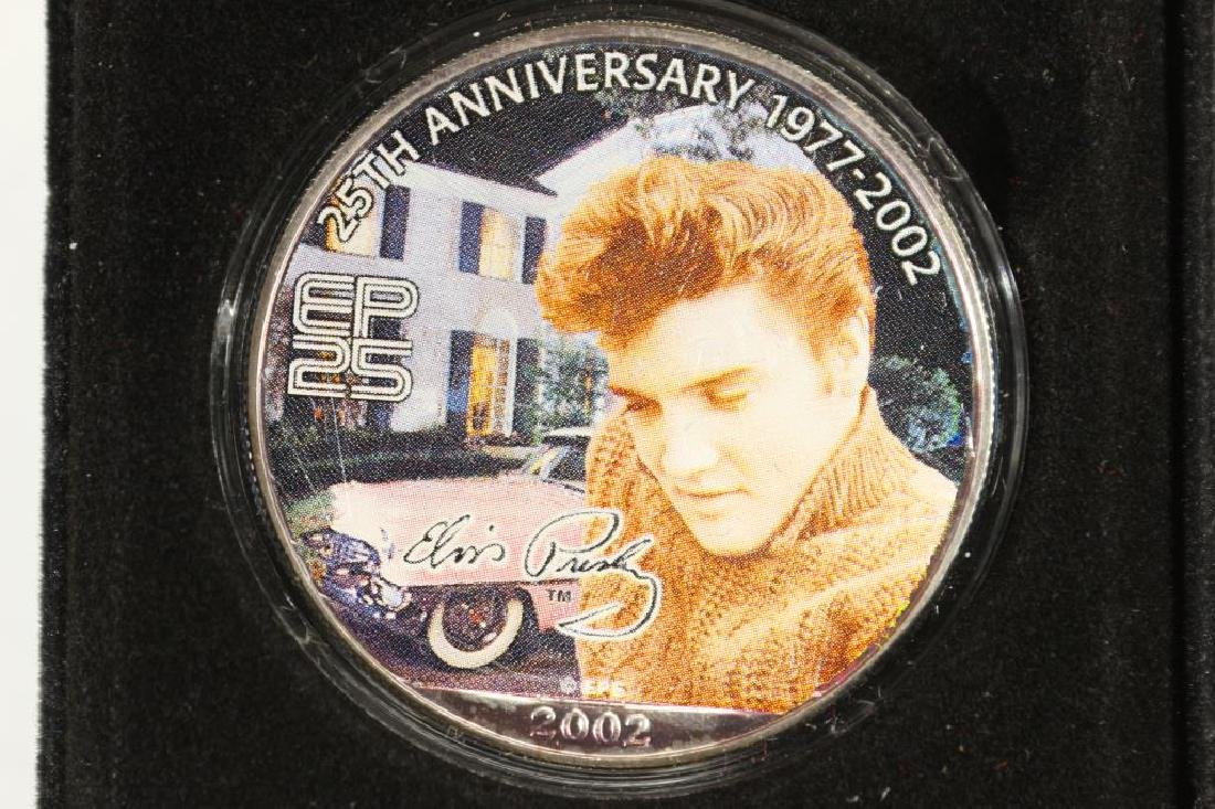 ELVIS PRESLEY COLORIZED AMERICAN SILVER EAGLE