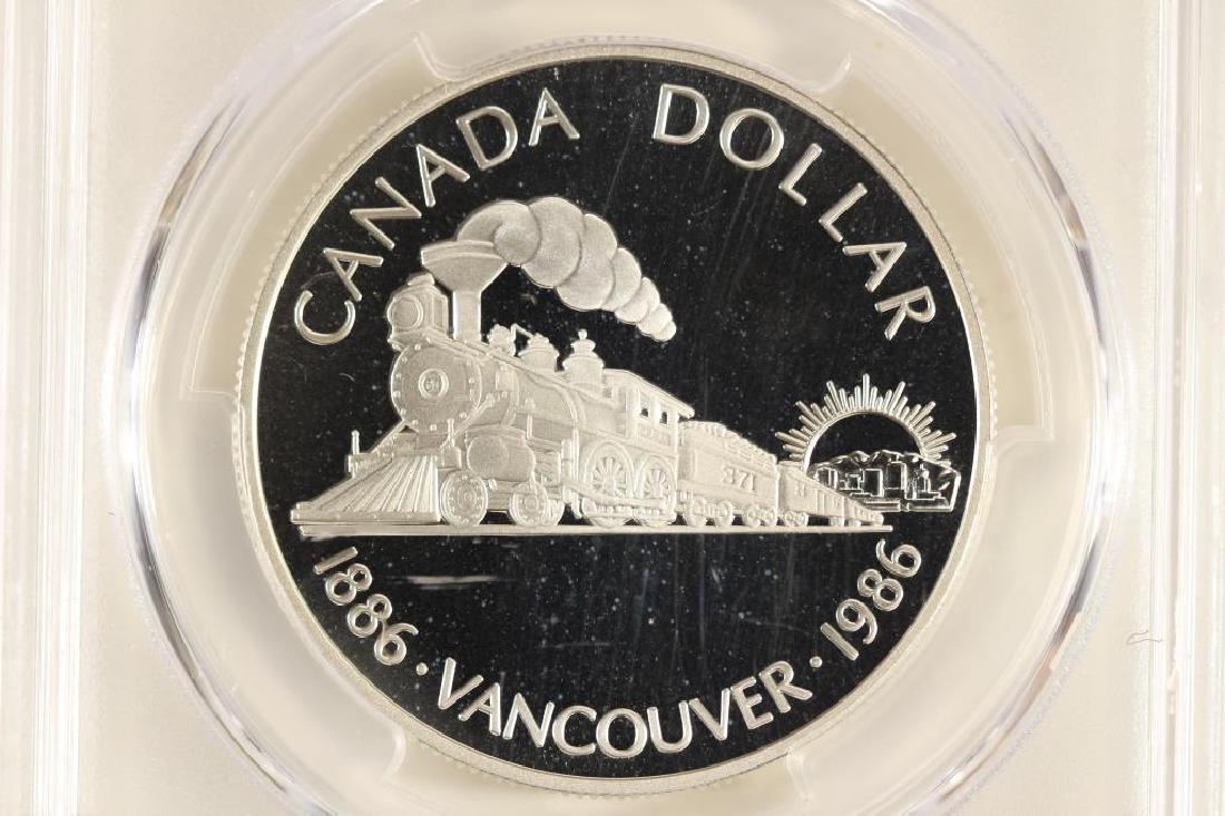 1986 CANADA VANCOUVER SILVER DOLLAR PCGS PR69 DCAM