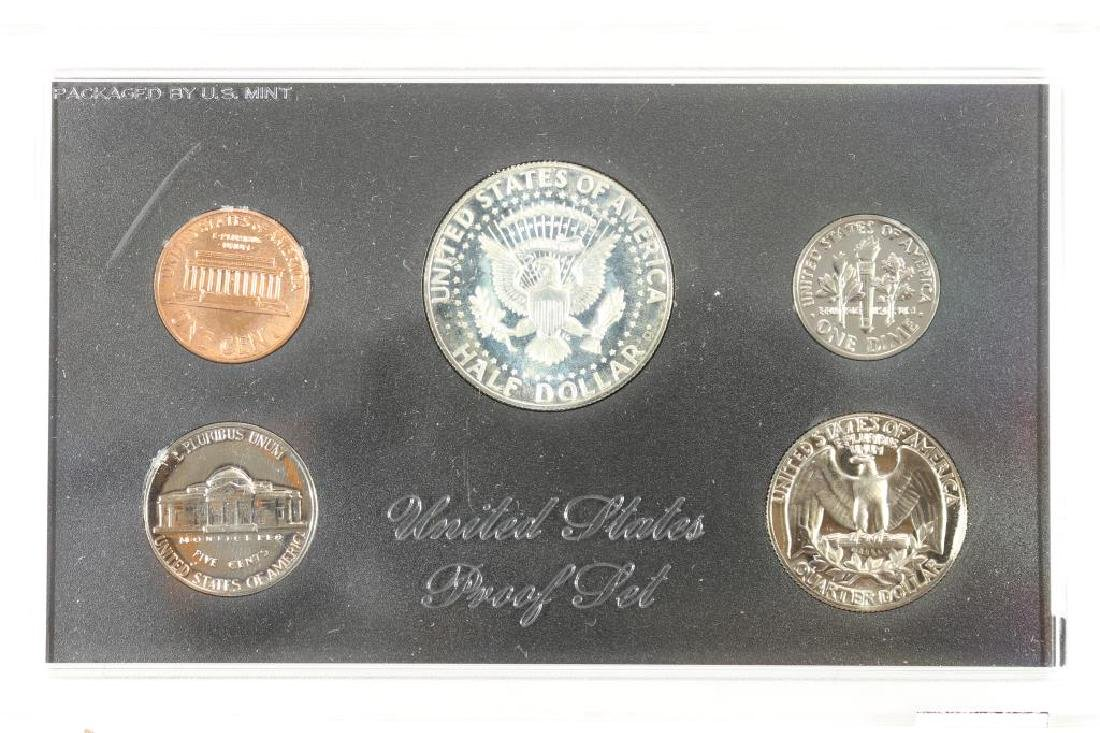 1969 US PROOF SET WITH NO BOX, 40% SILVER JFK HALF - 2