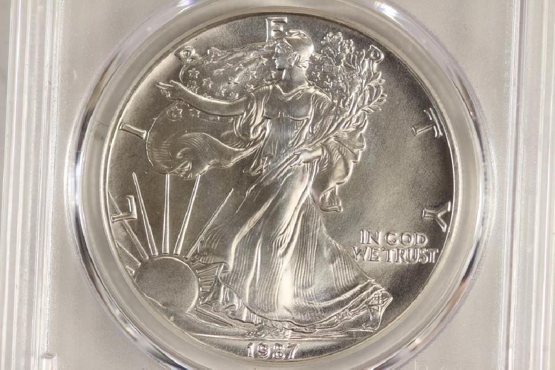 1987 AMERICAN SILVER EAGLE PCGS MS69