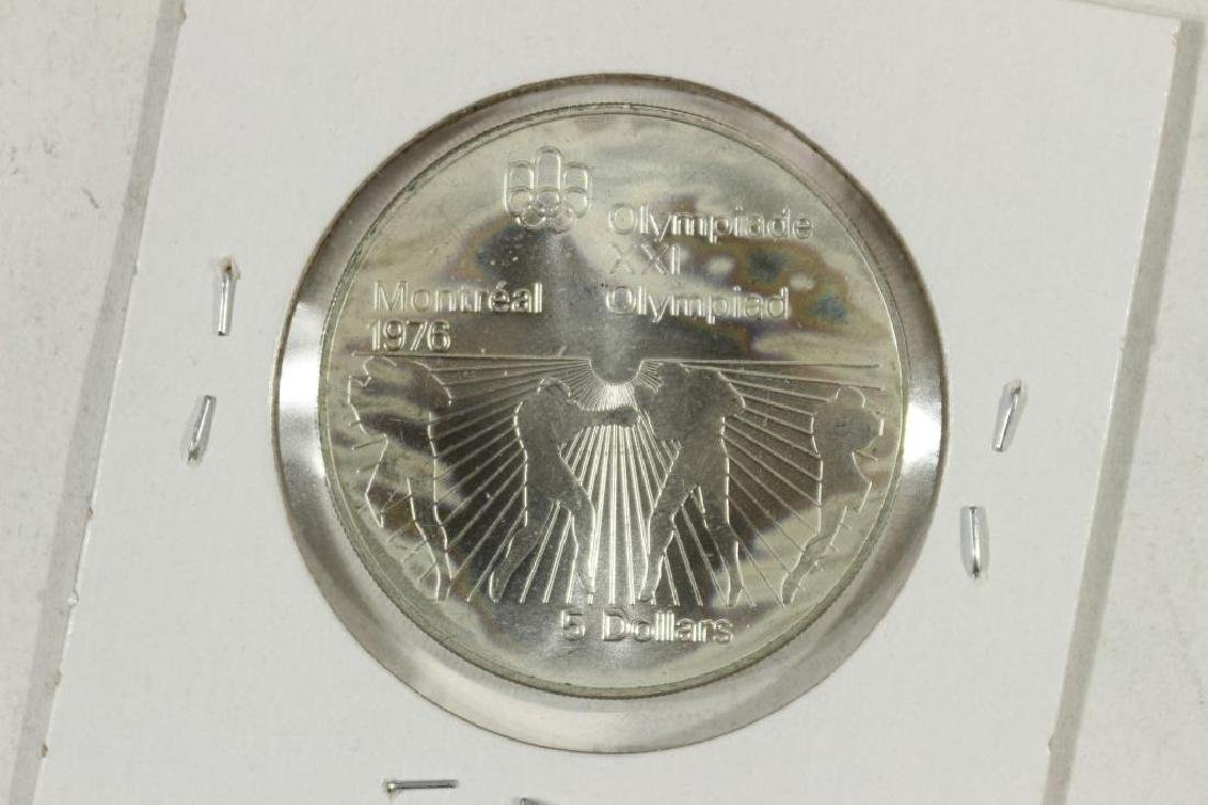 1976 CANADA SILVER $5 1976 MONTREAL OLYMPICS
