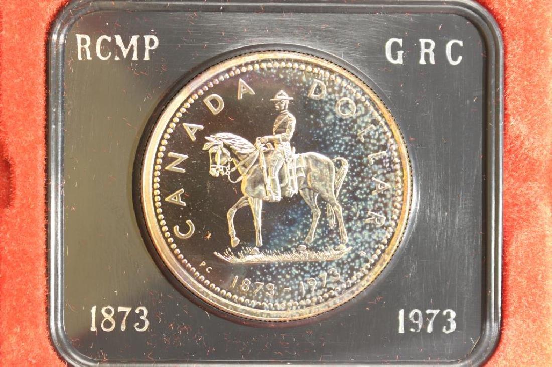 1973 CANADA R.C.M.P. SILVER DOLLAR PROOF