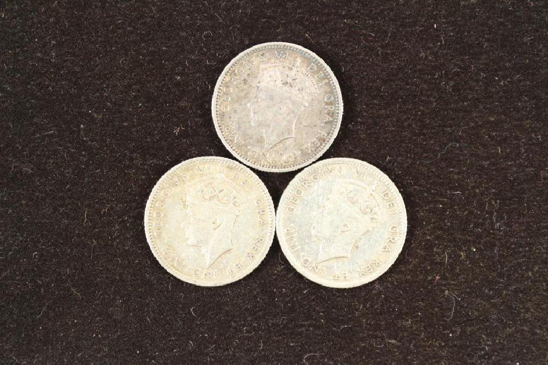 1938,41 & 42 NEWFOUNDLAND SILVER 10 CENTS - 2
